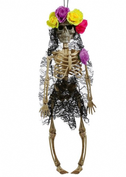 Mexican Skeleton Bride Hanging Dec